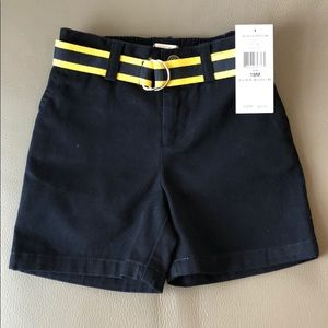 Polo RL Navy Blue Shorts with Belt Size 18 mos NWT